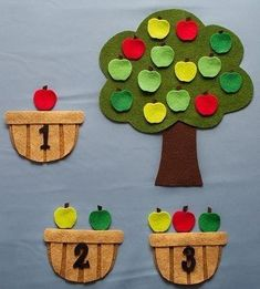 Antonio saved to badezimmerApple Counting Felt Story Board Set, Farm Flannel Board Stories, Felt Toddler Preschool Educational Learning Activity, Autumn F… Toddler Learning, Preschool Learning, Toddler Preschool, In Kindergarten, Toddler Activities, Preschool Activities, Learning Games, Teaching, Flannel Board Stories