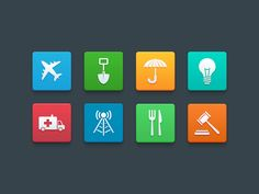 Category Icons by Luke Etheridge