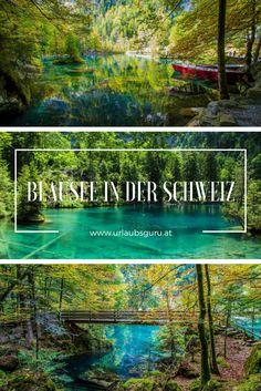 Entdeckt den wunderschönen Blausee in der Schweiz. Places To Travel, Travel Inspiration, Road Trip, Wanderlust, Camping, Travelling, Nature, Vacations, Outdoor