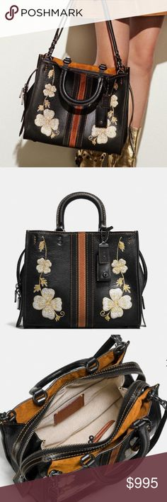 COACH ROGUE 1941 BAG Brand new with tags, dust bag, crossbody strap, coach gift box, ribbon and tissue.      1941 collection, suede lining, pebble leather, 12.25 X 9.75 X 5.5 CHALK BAG WITH ORANGE DETAIL AS SHOWN Coach Bags Shoulder Bags
