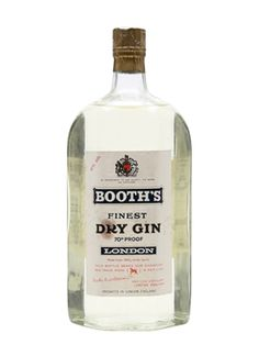 Booth's Finest Dry GinBot.1960s