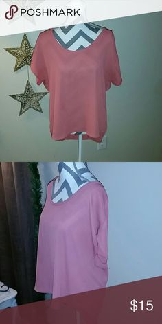Blush Top New, worn once. Tops Blouses