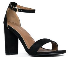 Strappy High Heel - Cute Chunky Block Heel - Formal, Wedding, Party Sandal – Simple Classic Pump - Comfortable Ankle Strap Design > You will love this! More info here : Jelly Sandals Strappy High Heels, Ankle Strap High Heels, High Heel Pumps, Pumps Heels, Sandal Heels, Dressy Sandals, Open Toe Sandals, Women's Sandals, Jelly Sandals