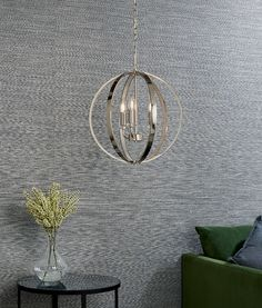 Premium crystal caged chandelier with either 3 or 6 lights. Great for hallways or living spaces. Globe Pendant Light, Polished Nickel, Living Spaces, Chandelier, Ceiling Lighting, Lights, Hallways, Crystals, Modern