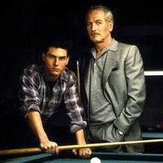 """Tom Cruise y Paul Newman en """"El color del dinero"""", 1986"""