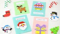 Pomysły na zadania do kalendarza adwentowego - Dzieciaki w domu Hama Beads Christmas, Christmas Bows, Christmas Earrings, Christmas Ornaments, Plastic Canvas, Perler Beads, Pixel Art, Needlepoint, Art For Kids
