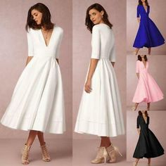 Chic Women Ladies Vintage Gown Prom Cocktail Evening Party Big Swing Long Maxi Dress Clothing from top store 15 Dresses, Spring Dresses, Casual Dresses, Fashion Dresses, Dresses For Parties, Vintage Ball Gowns, Robes Vintage, Sexy Outfits, Dress Outfits