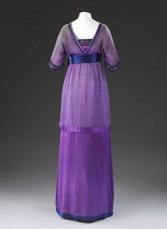 Evening dress   Lucile   V&A Search the CollectionsEngland, Great Britain (possibly, made)  France (possibly, made)  Date: 1910-1915 (made)  Artist/Maker: Lucile,