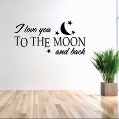 DSU Love You Moon English Quote Simple Art Wall Sticker is part of Clothes Quotes Simple - Cheap Fashion online retailer providing customers trendy and stylish clothing including different categories such as dresses, tops, swimwear Wall Stickers Quotes, Wall Quotes, Home Quotes And Sayings, Love Quotes For Him, Proverbs English, English Decor, Wall Decals For Bedroom, Removable Wall Stickers, Love Your Home