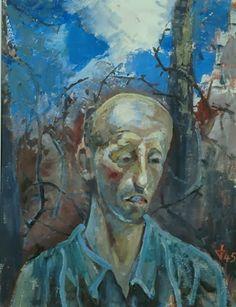Otto Dix (1891-1969) was een Duitse schilder en graficus. Hij doorliep gedurende de periode 1910-1933 verschillende belangrijke moderne kunststromingen zoals het expressionisme, dadaïsme, Nieuwe Zakelijkheid en realisme.- Portrait of a Prisoner, 1945