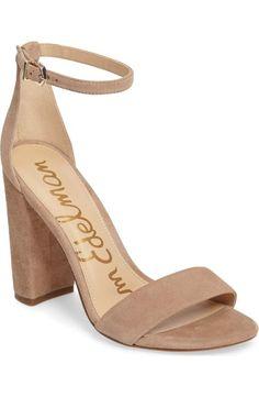 d0d64658378a Yaro Ankle Strap Sandal SAM EDELMAN Nude Heeled Sandals