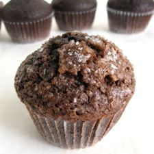 Chocolate Breakfast Muffins – moist, dense, and perfect with a morning cup of coffee.
