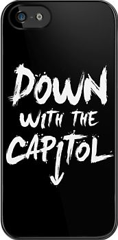 Down with the capitol, Hunger Games iPhone Case