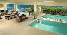 Villa Begonia Greece cottage Mediterranean breathtaking swimming pool living room