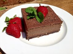 Chocolate Truffle Pie (Dairy Free, Gluten Free, Grain Free, Paleo) by Living Healthy with Chocolate. This is one of those pies you want to make when you want to impress your guests with a dessert that is  healthy, gluten and grain free and Paleo. It is also dairy free and egg free and super easy and fast to make. There is also no need to bake the crust, it is delicious as is. No one would even notice its made with healthy fats ;) I got a huge wow from my neighbors and husband when I let them…
