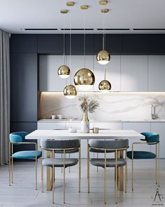Top 5 Inexpensive Apartment ideas Happy first night of Chanukah Blue & White inspo tonight Kitchen Room Design, Home Room Design, Kitchen Cabinet Design, Modern Kitchen Design, Home Decor Kitchen, Interior Design Kitchen, Kitchen Furniture, Art Deco Kitchen, Flat Interior