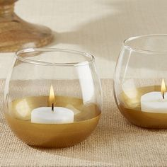 Casting a golden glow on all who behold it, our Gold Dipped Glass Votive Holder is the perfect way to add a touch of light and warmth to your special day. Placing these gold-dipped votives on tables will.