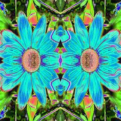 Blue Daisy Duo For More Search 1word BethofArt at RedBubble.com Today!