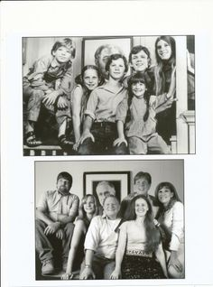 The Walton's children, first as kids and then as adults. They really did grow up!