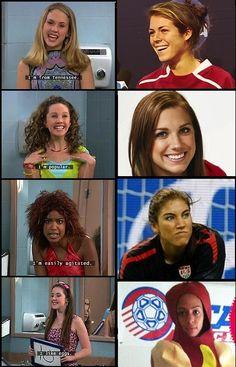 I laughed so hard. USWNT/Girl's Room comparison.