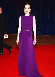 Michelle Dockery in Elie Saab at the White House Correspondents' Association Dinner on April 27, 2013 in Washington, DC