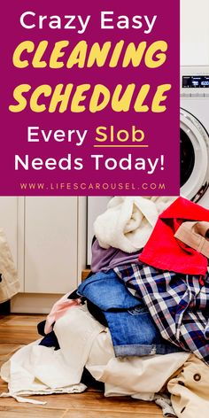 Dirty Home? The BEST Weekly Cleaning Schedule for Busy People - Time to get your home clean and tidy. This daily and weekly cleaning routine will help you take control of the mess. Even if you are a lazy cleaner, you deserve a clean home. This chore list