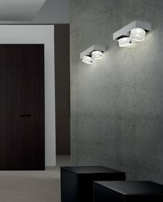 O-OPTIKAL 278, falikarok. A lámpacsalád több elemmel is kiegészíthető, mennyezeti lámpák, függesztékek, asztali lámpa. A vastag üveg különleges fényhatást biztosít. Mi nagyon kedveljük, rozsdás fém hatású fém vázzal is. Design: ORIANO FAVARETTO MODERN /