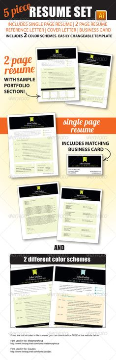Resume Package - single page resume