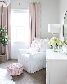 Baby girls nursery, neutral nursery decor, blush white and gray via Gather in Gr. - Baby girls nursery, neutral nursery decor, blush white and gray via Gather in Gr.
