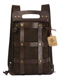 Кожаный рюкзак. QZ214. TESLA BROWN.