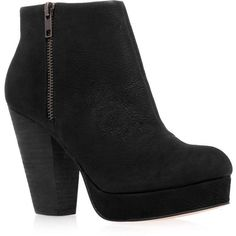 TOPSHOP **High Heel Ankle Boots by Kurt Geiger (430 TND) ❤ liked on Polyvore featuring shoes, boots, ankle booties, zapatos, black, black boots, black ankle boots, platform booties, black leather bootie and ankle boots