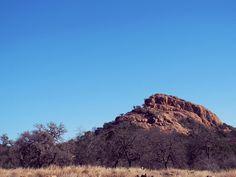 Rock formation at Enchanted Rock in Fredericksburg, Texas
