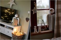 U nás na kopečku Candle Sconces, Wall Lights, Candles, Painting, Home Decor, Christmas, Appliques, Decoration Home, Room Decor