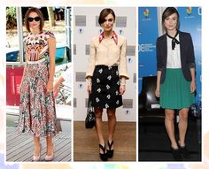 Keira Knightley's fashionable look comes from bold prints and tailored pieces.