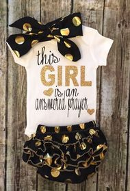 This Girl Is An Answered Prayer Baby Girl Onesie Religious Baby Onesies
