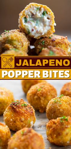 Jalapeno Popper Bites are loaded with cream cheese, shredded cheese, jalapeno peppers, and bacon. These easy appetizers have enough spicy kicks for spicy food lovers. This finger food is also a great 4th of July appetizer idea! Finger Food Appetizers, Yummy Appetizers, Appetizers For Party, Appetizer Recipes, Easy Homemade Recipes, Spicy Recipes, Cooking Recipes, Dip Recipes, Best Superbowl Food