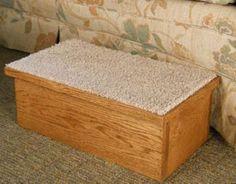 Hardwood Singe Pet Step with Carpet