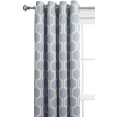 Style Selections Quinn 84-in L Room Darkening Geometric Grey/Snow... ($28) ❤ liked on Polyvore featuring home, home decor, window treatments, curtains, grommet thermal curtains, thermal draperies, room darkening curtains, room darkening grommet curtains and thermal panels