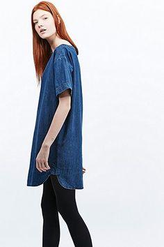 BDG Denim Dolman Frock Dress in Blue