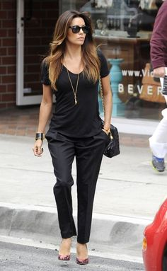 Eva+Longoria - wait this is actually so cute for work. casual but classy