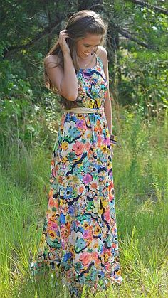 One flowered maxi dress is one more reason to treat yourself! $44 at shopbluedoor.com!