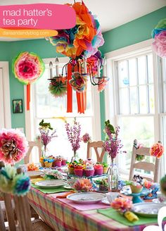 indoor party decor mad-hatter-tea-party