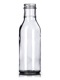 G029 : 12 oz clear glass sauce bottle with 38-400 neck finish : Sauce/Syrup Bottles