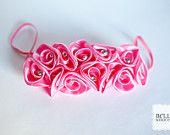 Bubblegum Pink Satin Ruffle Toddler Headband