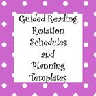 Guided Reading Rotation Schedules, Running Record Planning, Lesson Plan Templates and Organizational Tips for Guided Reading!