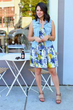 Soda Pop And Denim Vests - My Style Vita/would look great with a little black dress
