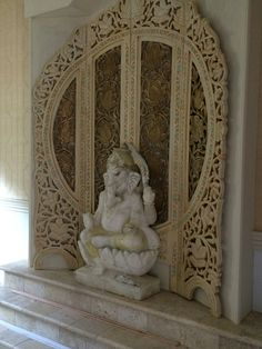 Ganesha meditation room wall for relaxation, carolereeddesign.com,