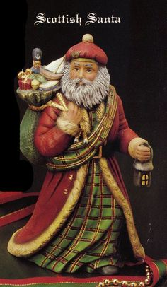 Old World Santa Scottish Santa Collectible Santa by TSoriginals Tartan Christmas, Plaid Christmas, Father Christmas, Christmas Art, Winter Christmas, Vintage Christmas, Christmas Decorations, Christmas Ornaments, Xmas