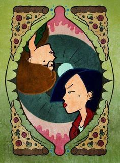 Daria, Jane, Pizza, and Sick Sad World. Daria Morgendorffer, Drag Queens, Daria Quotes, Daria Mtv, Pop Art, Morning Cartoon, Adult Cartoons, Animation, Illustration