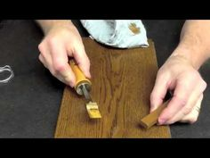 Wood Grain Repair with Burn In Stick & Graining Pen Wood Repair, Hardwood Floors, Flooring, Floor Care, Household Tips, Wood Grain, Thrifting, Burns, Projects To Try